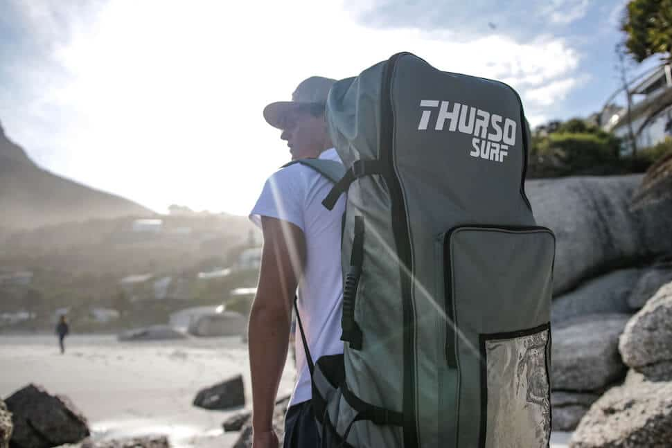SUP roller board bag going to beach