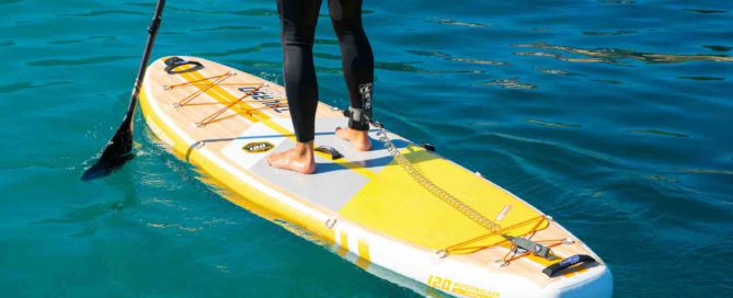 close up of man standing on Thurso Surf Waterwalker All-around SUP