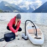 paddle board electric pump installation thurso surf