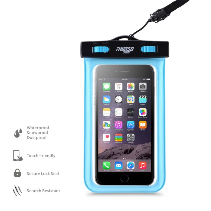 thurso surf waterproof cell phone case pouch