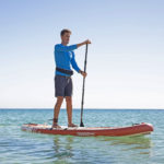 thurso surf waterwalker 132 SUP 2021 crimson man paddling