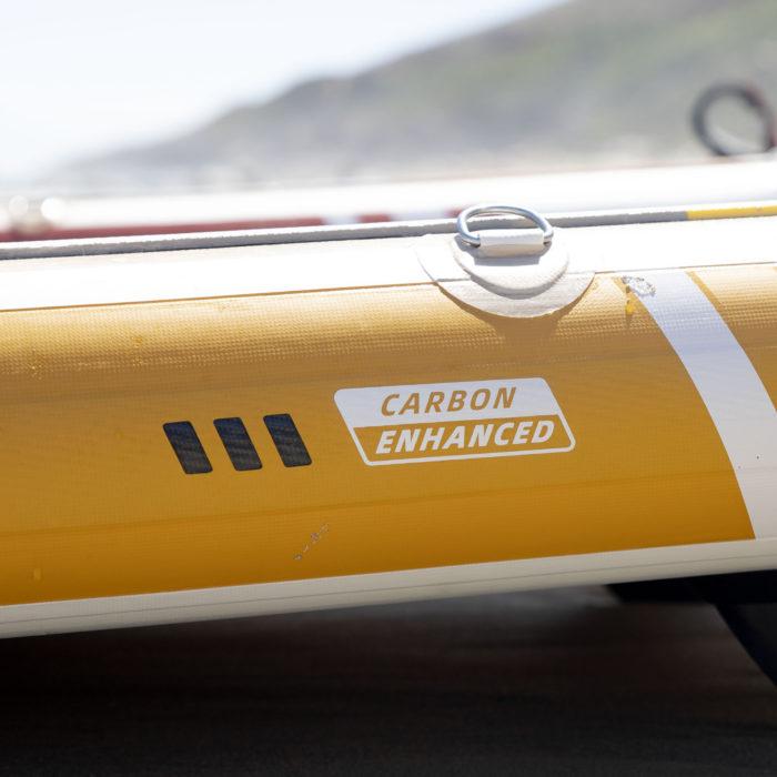 thurso surf waterwalker 126 2021 tangerine carbon rail