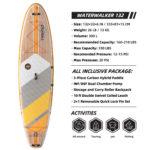 thurso surf waterwalker 132 stand up paddle board parameters tangerine