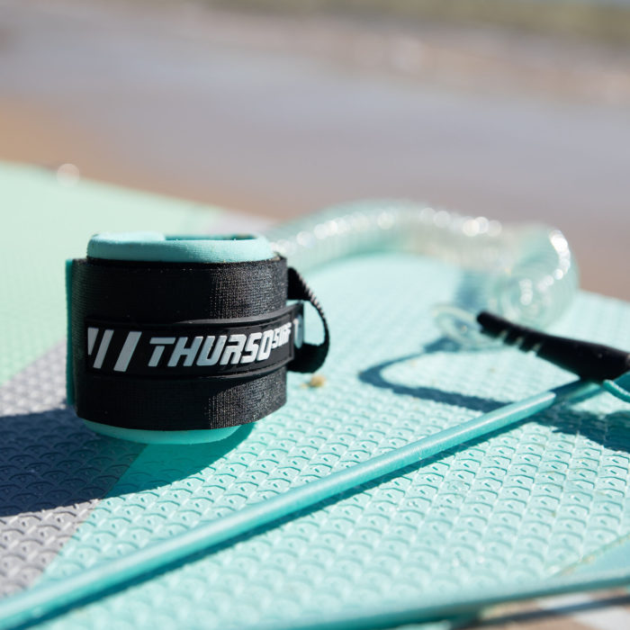 thurso surf waterwalker 132 SUP 2021 turquoise leash traction pad feature