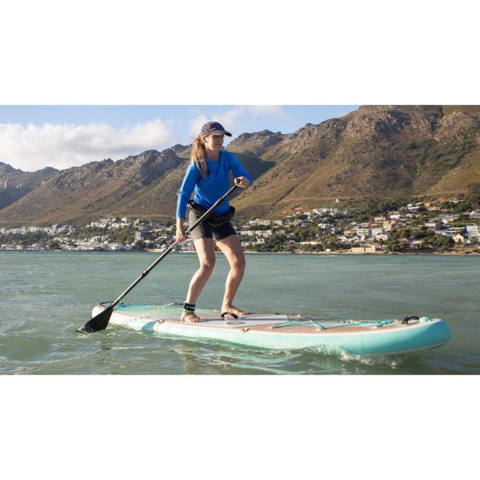 thurso surf waterwalker 132 SUP 2021 turquoise woman paddling