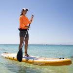 thurso surf waterwalker 132 2021 tangerine woman stand up paddling