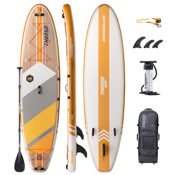 stand up paddle board waterwalker 126 tangerine package thurso surf