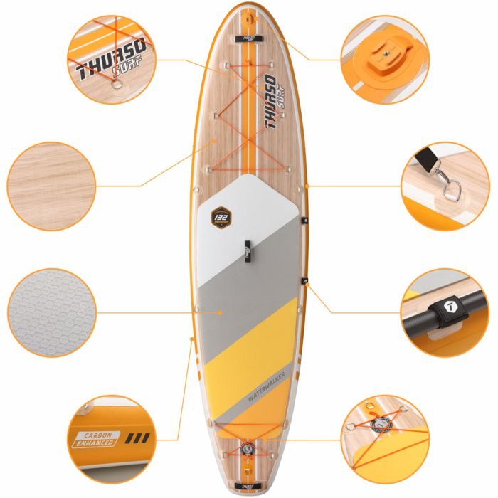 stand up paddle board waterwalker 132 tangerine feature thurso surf