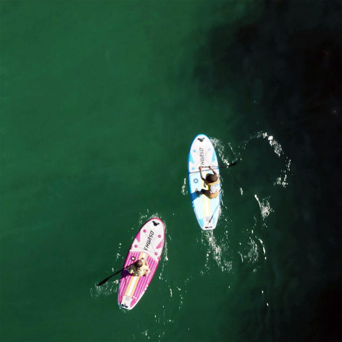 thurso surf prodigy magenta paddle board paddling ocean