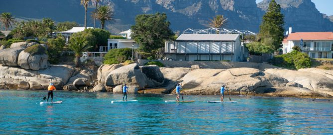group paddling on Thurso Surf SUPs not Costco Paddle Board