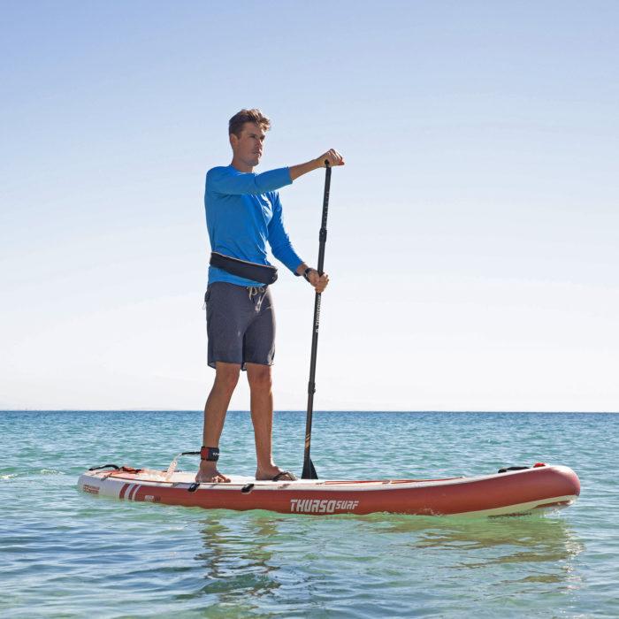 thurso surf waterwalker 132 SUP 2021 crimson man paddling