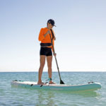 thurso surf waterwalker 126 2021 turquoise woman stand up paddling
