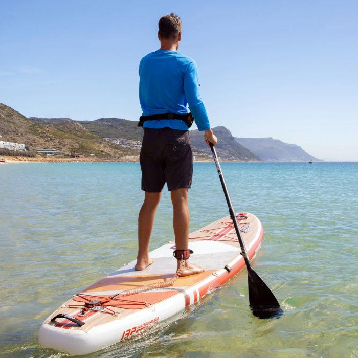 thurso surf waterwalker 132 SUP 2021 crimson man paddling landscape