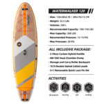 thurso surf waterwalker 120 stand up paddle board parameters