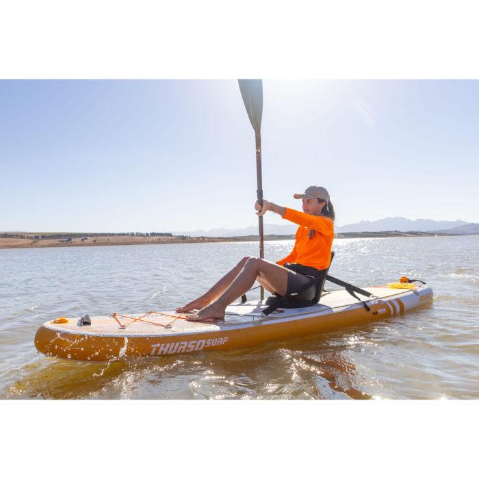 thurso surf waterwalker 120 2021 tangerine woman stand up kayaking