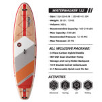 thurso surf waterwalker 132 stand up paddle board parameters
